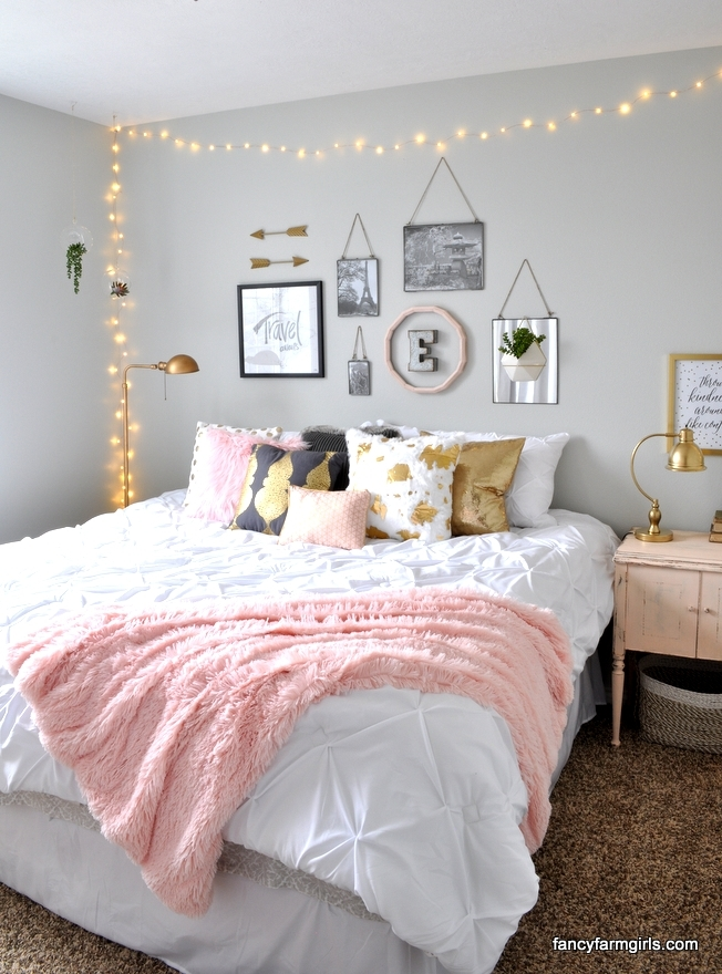 Girls bedroom makeover fancy farmgirls for Fancy girl bedroom ideas